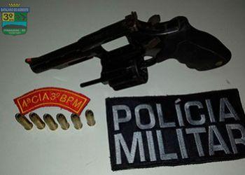 Homem é flagrado em posse de arma de fogo na zona rural de Itabaiana