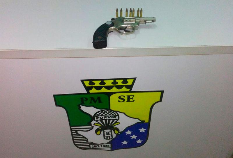 apreensão revólver Campo do Brito Sergipe