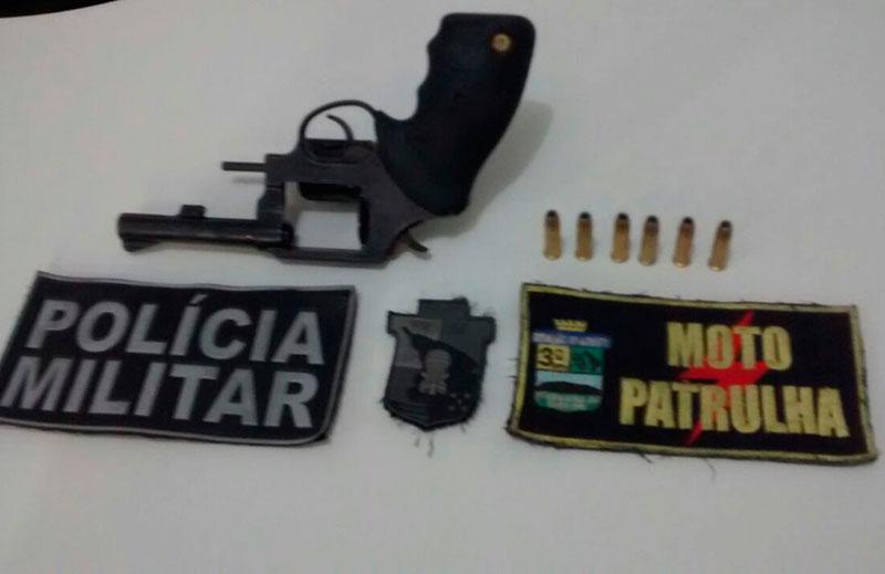apreensão revólver Moto Patrulha Itabaiana Sergipe