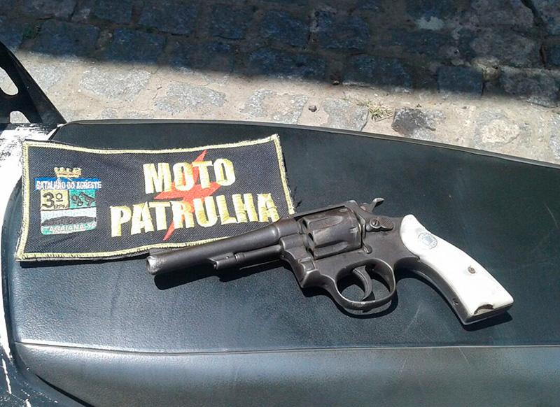 revólver calibre 32 apreensão PM Itabaiana Sergipe