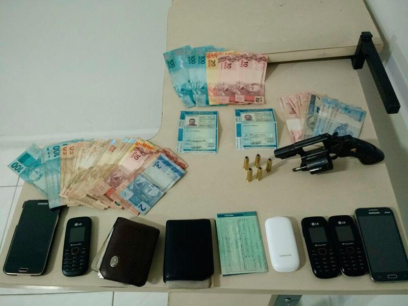 arma de fogo e dinheiro falso Itabaiana Sergipe
