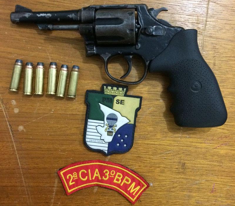Apreensão revólver Carira Sergipe Polícia Militar