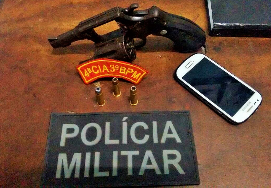 Revólver apreensão Itabaiana Sergipe