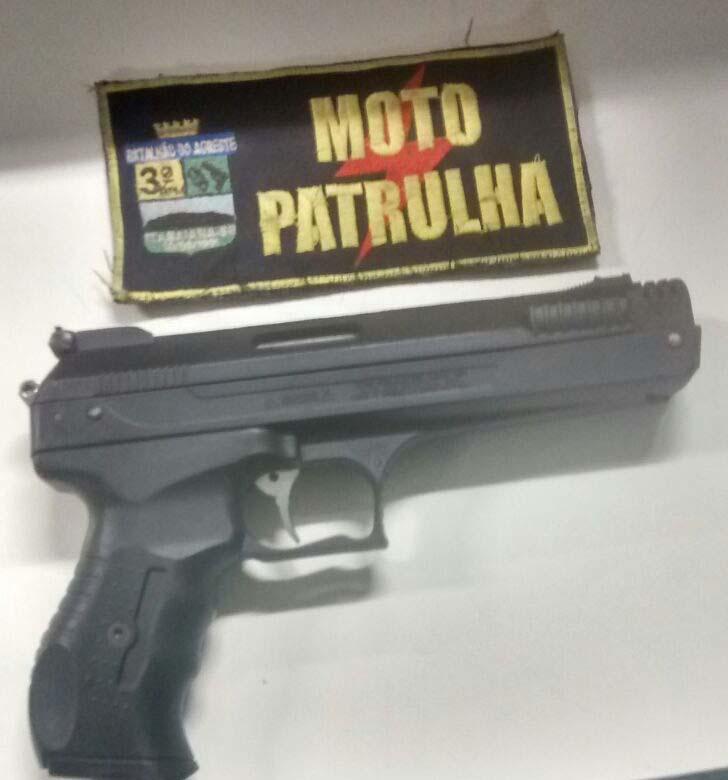 simulacro Pistola Apreensão Itabaiana Sergipe