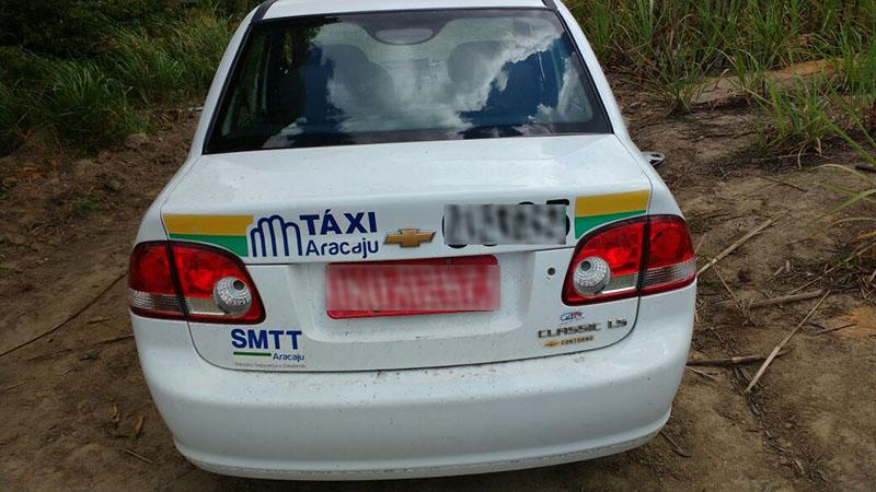 taxi roubado Aracaju Sergipe