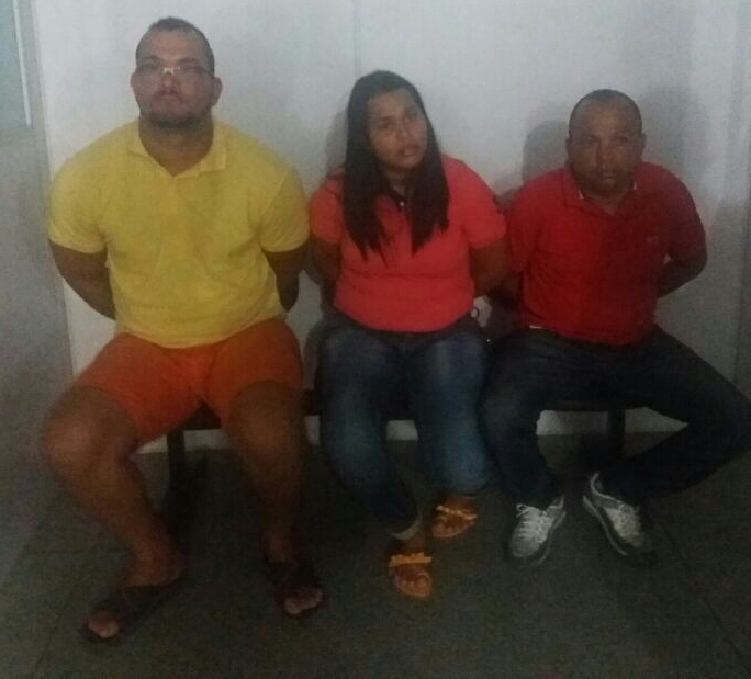 Trio alagoano furto supermercado Itabaiana Sergipe