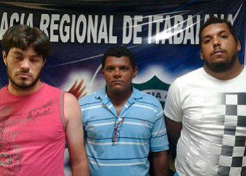 Trio acusado pelo delito de roubo majorado e associa��o criminosa � preso em Itabaiana