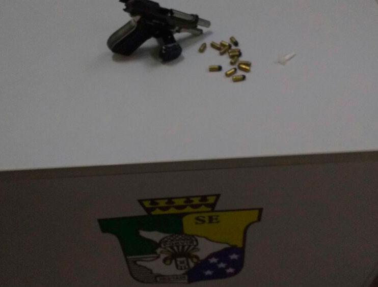 infratores carro Carira Sergipe Pistola calibre 380