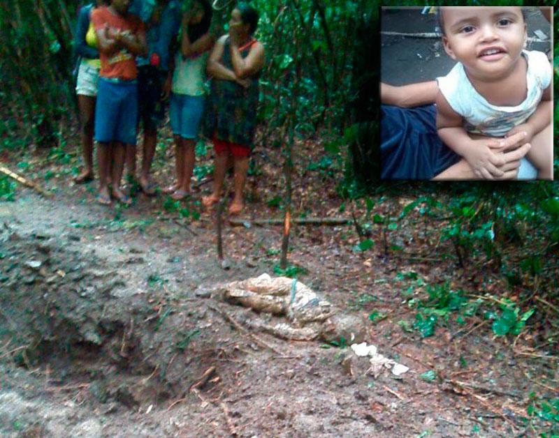 Criança enterrada matagal Jaóatã Sergipe